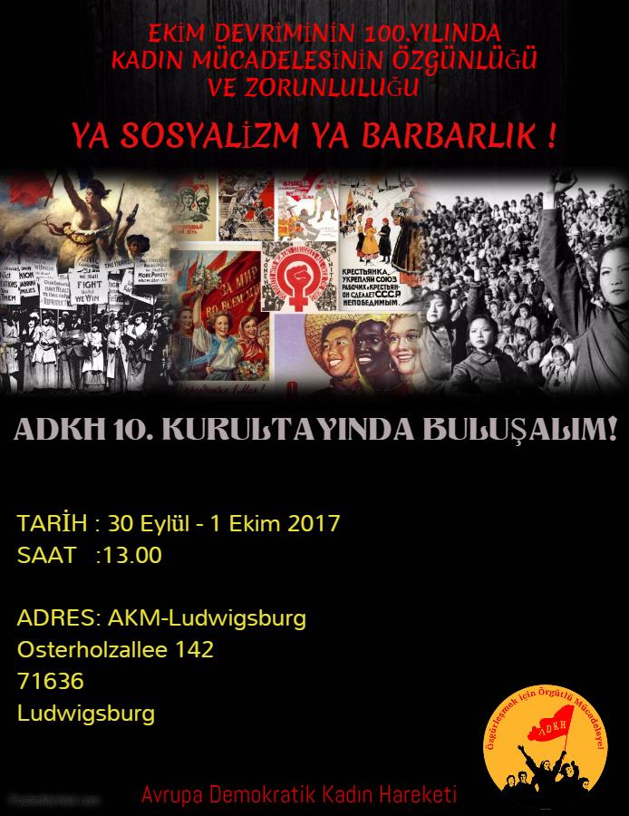 30 EYLÜL-1 EKİM 2017'de ADKH 10.KURULTAYINDA BULUŞALIM!