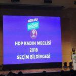HDP Kadın Meclisleri Kadın Beyannamesini açıkladı