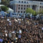 Güney Afrika'da kadınlar şiddete karşı sokaklarda