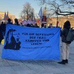 İstanbul Sözleşmesi'nin feshine Stuttgart'ta da kadınlar tepkilerini gösterdiler